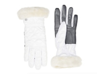 UGG Womens Quilted All Weather Resistant Tech Gloves in White 3117 Size S/M