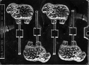 EASTER LAMB SHEEP CHOCOLATE LOLLIPOP LOLLY MOULD  4 SHAPES ON 1 MOULD