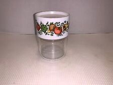 Vintage Corning Spice of Life Glass and plastic storage jar 4""