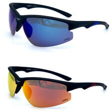 POLARIZED GOLF STYLE, FISHING, SUNGLASSES BLUE FIRE MIRROR LENS