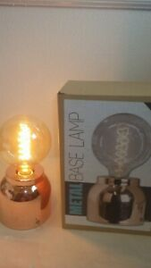 At Home accent table lamp, Edison Bulb, Metal Base Lamp, Bulb Included