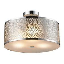 Drum Chandelier Lighting Metal Pendant Light Fixture Round Ceiling Lamp
