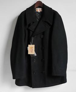 Vintage FOX KNAPP Pea Coat Retro Collectable Rare Dark Blue Navy Wool 40 Large
