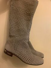 Baldinini trend Beige suede leather Women's Autumn boots shoes size UK 6.5