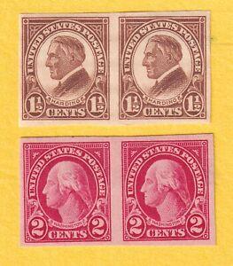 jis36 US STAMP # 576-77 PR 11/2-2c 1923 *MINT LH CV$7.75 540