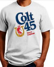 Colt 45 Malt Liquor T-shirt.Gray,Khaki,White,Yellow. S-3X Free Ship to USA.