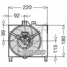 DENSO Fan, radiator DER16003