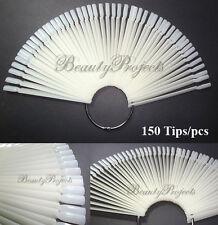 150pc Nail Art Polish Design Display Palette Natural Color Chart w/ Ring Handle