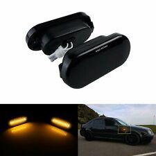 Noir lentille LED Clignotant Répétiteur Pour VW T5 Lupo Jetta Bora Sharan Passat
