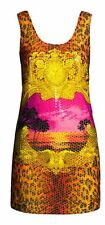 H&M VERSACE DRESS SCARF PRINT SEQUIN EMBELLISHED LEOPARD RARE UK 12 EUR 38 US 8