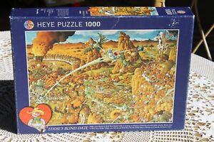 Heye 1000 piece jigsaw puzzle Eddie's Blind Date Wanda. Boxed, bagged, complete.