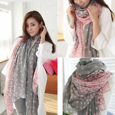 Stylish Women Silk Shawl Stole Soft Scarves Long Candy Colors Lady Scarf Wraps