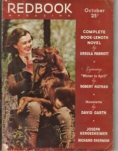 1937 Redbook October - Jimmy Roosevelt; Cocker Spaniel; Golden Retriever; Zola