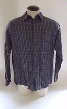 BANANA REPUBLIC Men's Long Sleeve Shirt Button Up Blue Plaid Large L