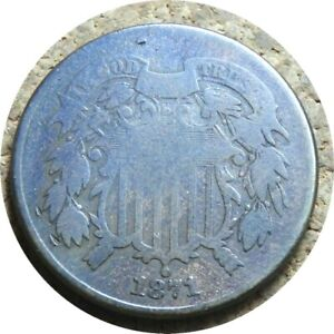 elf Two Cents   1871  Better Date