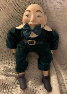 Faith Wick Enesco Humpty Dumpty Doll Music Box Porcelain Head Cloth Body