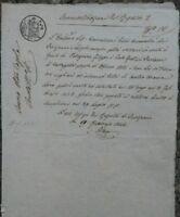 1844 LUNIGIANA: MANOSCRITTO EREDITA' TERRENO DI OFFIANO A FRATELLI DI CASTAGNOLA