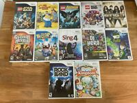 Nintendo Wii Games Lot 12 Mixed Games