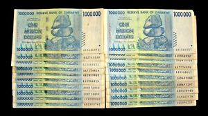 20 x Zimbabwe 1 Million Dollar banknotes-currency