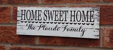 Rustic Home Sweet Home Personalised Wooden Sign plaque House Warming Gift