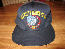 1987 Vintage USS Kitty Hawk CV-63 Navy Military Ball Cap Hat, Made in USA