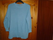 Sea green textured knit hip length oversized jumper, ASOS, size 4,6,8