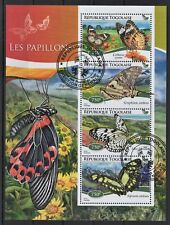 TOGO TOGOLAISE 2014 LES PAPILLONS BUTTERFLIES FAUNA OF THE WORLD STAMPS MNH CTO