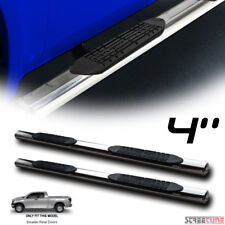 """4"""" Oval Stainless Side Step Nerf Bars Rail Boards 07-18 Toyota Tundra Double Cab"""