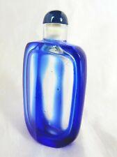 Lovely Vintage Blue Glass Perfume Bottle