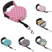 Retractable Dog Leash Nylon Tape Cute Cord Walking Lead Rope For Pet Cat Puppy