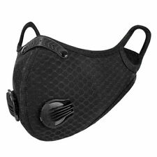 Cycling Mask Half Face with Filter Dual-valve Breathable Bike Mask Anti-droplets