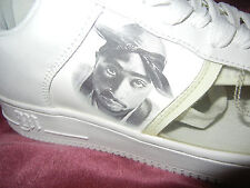 2PAC #Makaveli White #REDEMPTION size 10 sneakers #Tupac SHOES #2PACALYPSENOW