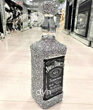 SILVER CRUSHED DIAMOND SPARKLY BOTTLE CHAMPAGNE WINE BEER DRINK SITTER BLING