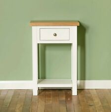 White Telephone Table Painted Solid Wood Small Hall Narrow Side Console Farrow