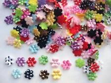 200 Assorted Felt/Satin Polka Dots Mini 1cm Flower Applique/trim/10 colors H40