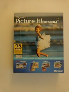 Microsoft Picture It! Premium 10 for Windows (UNOPENED FACTORY SEALED)