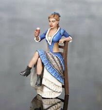 Elite gemalt Zinnfigur Wild West Girl. Wirtshausbesitzer. Herrin des Salons 54мм