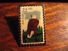 Bald Eagle Postage Stamp Lapel Pin - Vintage 1987 USA American USPS Postal Pin
