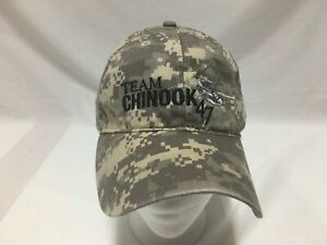 CAP HAT BOEING TEAM CHINOOK 47 HELICOPTER CAMOUFLAGE MILITARY AIRCRAFT ADJUSTER