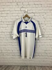 Rare Vintage ADIDAS White Blue Team  Soccer Jersey Men's XL Collared 90s USA