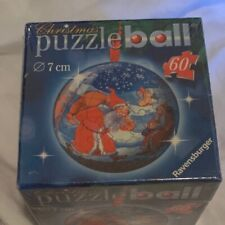 Ravensburger Christmas Puzzle Ball - 60 Pieces 7 Cm Santa And Mrs. Clause