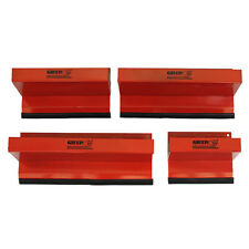 GRIP 4pc Magnetic Steel Tool Box Tray Organizers Holders Rubber Magnets 67447