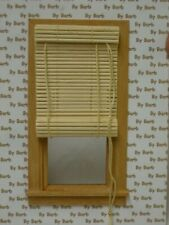 Dollhouse Miniature Bamboo Roll Up Shade in Tan - 1:12 Scale