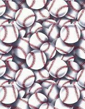 Nouveauté baseball tissu timeless treasures emballé boules matériel sport c - 2159