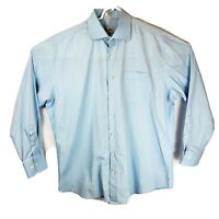 Peter Millar Seaside Finish Mens XL Blue Long Sleeve Cotton Button Down Shirt
