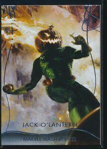 2020 Upper Deck Marvel Masterpieces Base Level 3 #69 Jack O'Lantern /999