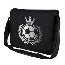 König Fußball | Krone | Soccer | EM WM | Silber | Umhängetasche | Messenger Bag