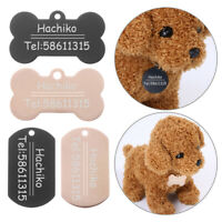 Dog ID Tag Name Tag Nameplate No Noise Pet Cat Collar Tag Stainless Steel-