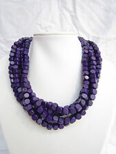 Fashion Jewelry infinite Statement square wooden beaded purple Choker Necklace