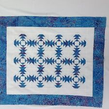 Pineapple block paper pieced unfinished quilt top 100% cotton batik fabrics